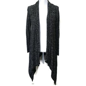 Lucky Brand Cardigan Sweater Charcoal Waterfall